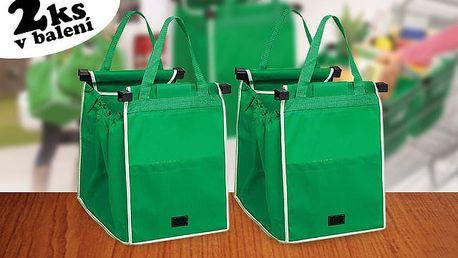 TIP! Skládací taška do nákupního vozíku - 2ks v balení