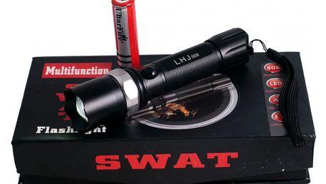 TIP! Multifunkční policejní baterka SWAT - dosvit až 200 metrů!