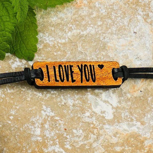 Pro vás i vaši polovičku: dřevěné náramky s nápisy a obrázky pro zamilované2