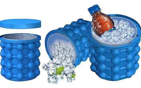 Silikonová nádoba na výrobu ledu - se skladovacím prostorem