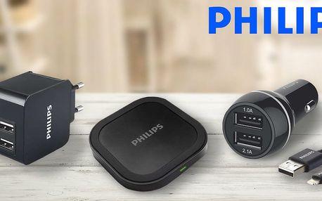 Nabíječky Philips: bezdrátová, USB i do auta
