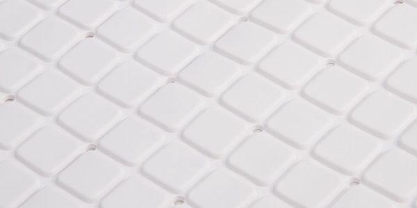 Koopman Protiskluzová podložka do koupelny bílá, 69 x 39 cm2