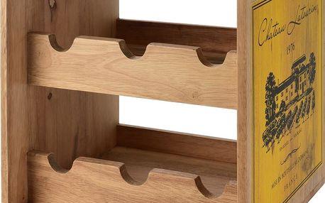 Home Styling Collection Stojan na víno, kaučukové dřevo , 6 lahví - barva žlutá