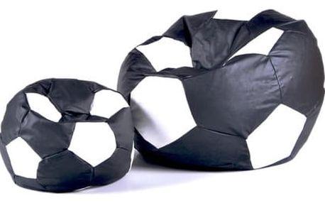 Set sedacích míčů XXXL + XXL černo-bílý
