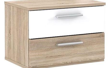 GOULDSTAR, noční stolek (2 kusy), dub sonoma/bílá