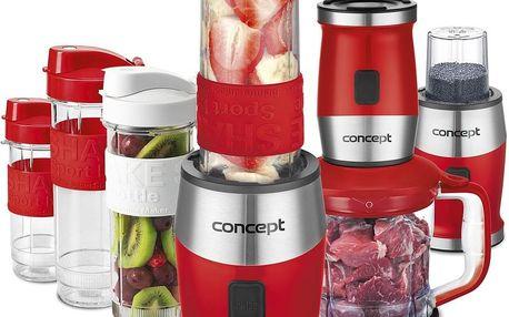 Concept SM3392 Fresh&Nutri multifunkční mixér 700 W + láhve 2 x 570 ml + 400 ml, červená