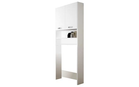 Extom SINDY 901, skříňka nad pračku, alpská bílá/bílý lesk, v. 189,9cm, š. 63,9 cm, hl. 24,6 cm