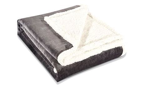 DecoKing Beránková deka Teddy tmavě šedá, 150 x 200 cm