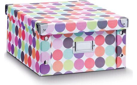 Box pro skladování, 31x26x14 cm, téma - tečky, ZELLER
