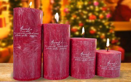 Adventní vonné svíčky s vůní vánočního punče