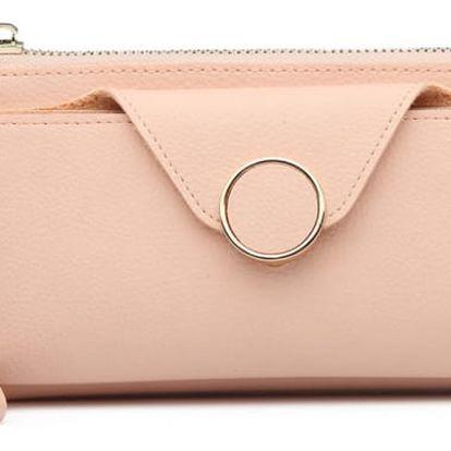 Dámská růžová peněženka Selina 6884