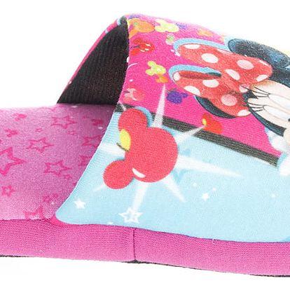 Disney Pantofle - bačkůrky Minnie Mouse růžové