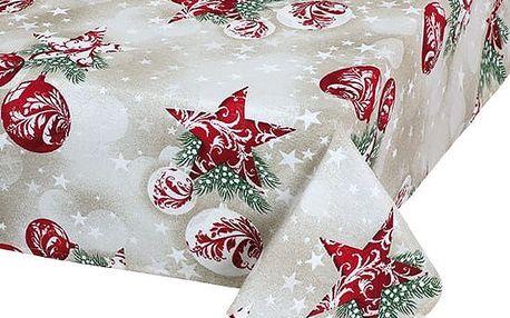 Bellatex Ubrus Vánoční baňky, 100 x 100 cm