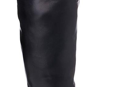 BALADA Černé kozačky nad kolena W66-1B Velikost: 37 (24 cm)