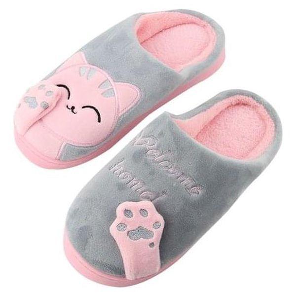 Dámské huňaté papuče - 6 variant