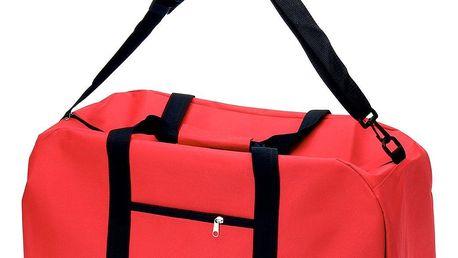 Emako Tréninková taška na rameno z polyesteru, červená barva, 48 l