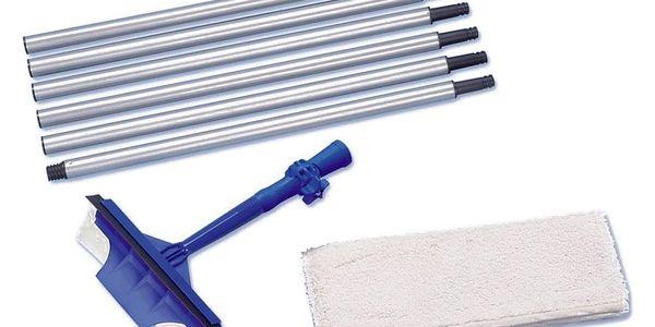 Stěrka na mytí oken MAXI + dlouhá skládaná rukojeť, dosah až 3 m, WENKO2