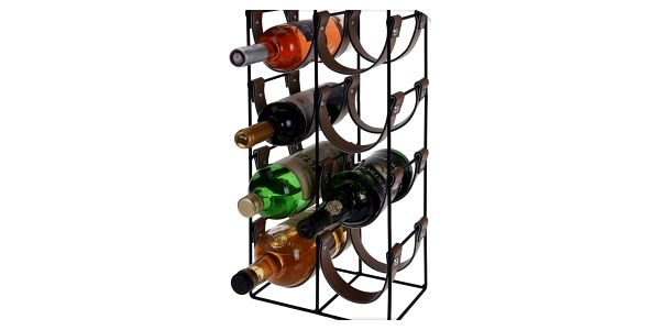 Home Styling Collection Kovový stojan na víno - 10 lahví2