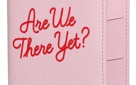 Yes Studio Obal na pas Are we there yet?, růžová barva, textil