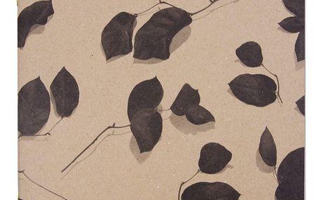 Ohh Deer Nelinkovaný sešit Rose Leaf, hnědá barva, papír