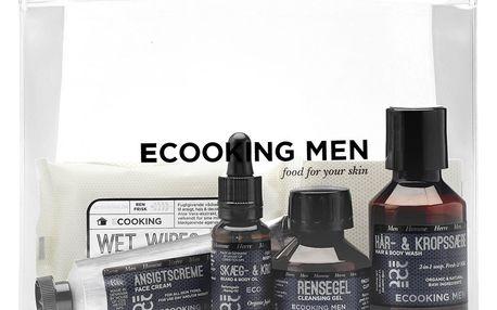 ECOOKING Pánský cestovní set kosmetiky Ecooking Men, hnědá barva, plast