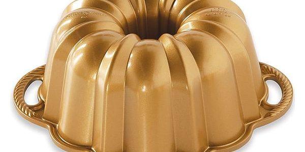 Nordic Ware Hliníková forma na bábovku Anniversary Pan Gold, zlatá barva, stříbrná barva, kov2