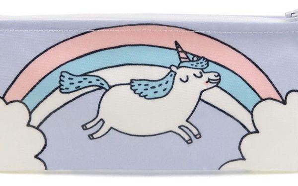 Ohh Deer Pouzdro na psací potřeby Unicorn, fialová barva, modrá barva, textil
