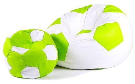 Set sedacích míčů XXXL + XXL bílo zelený + zeleno bílý