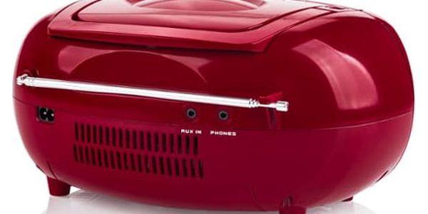 Radiomagnetofon s CD Hyundai TRC 788 AU3RS stříbrný/červený2