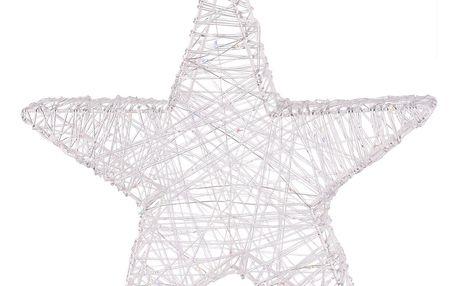 Vánoční drátěná hvězda Aprilia stříbrná, 30 LED