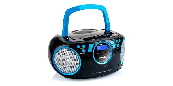 Radiomagnetofon s CD Hyundai TRC 788 AUBBL černý/modrý2
