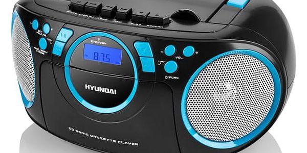 Radiomagnetofon s CD Hyundai TRC 788 AUBBL černý/modrý3