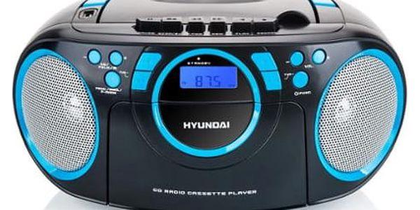Radiomagnetofon s CD Hyundai TRC 788 AUBBL černý/modrý5