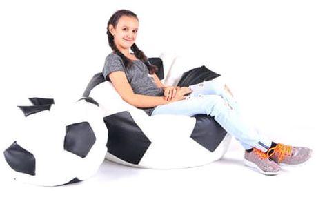 Set sedacích míčů XXXL + XXL bílo-černý