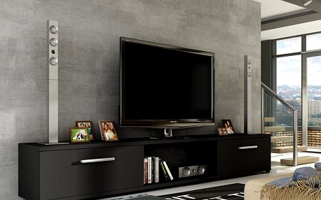 Televizní stolek LOBA RTV, černý mat