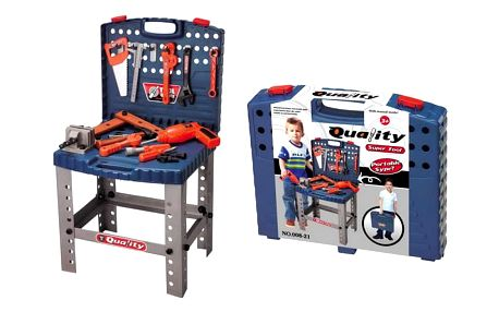 G21 24456 Dětské nářadí kufřík a pracovní stůl