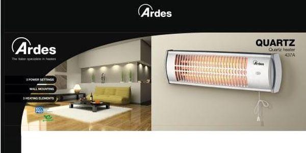 Zářič/ohřívač Ardes 437A stříbrný2