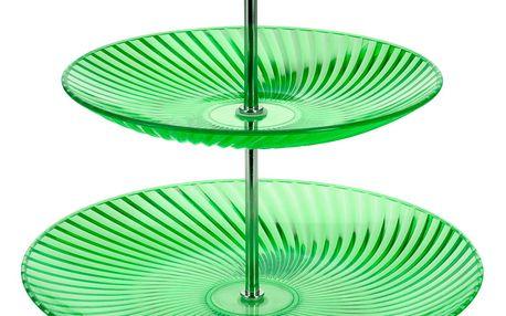EH Excellent Houseware Barevný patrový talíř, talíř na dorty - 2 úrovně