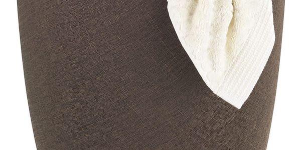 Taburet CANDY BROWN - koš na prádlo, 2 v 1, WENKO4