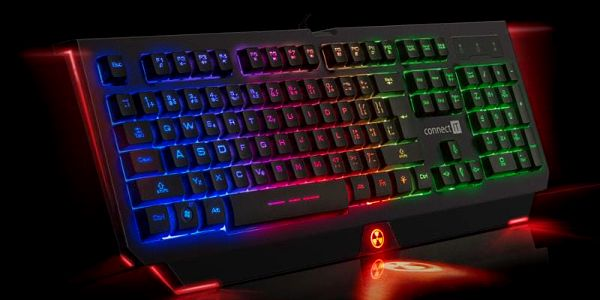 Klávesnice Connect IT Battle Rainbow, CZ černá (CI-1129)5