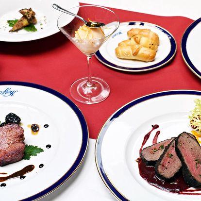 5chodové menu U Modré kachničky pro dva