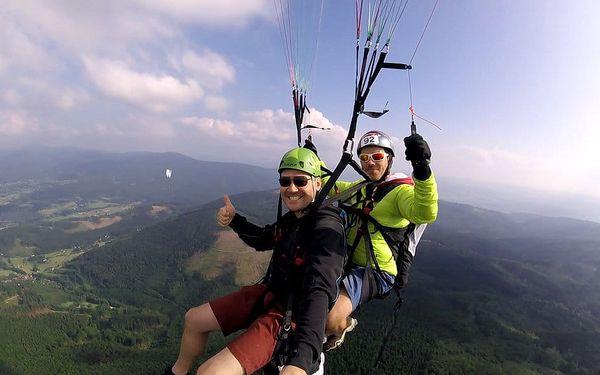 Tandemový paragliding - termický let, Beskydy, 1 osoba, 15 minut2