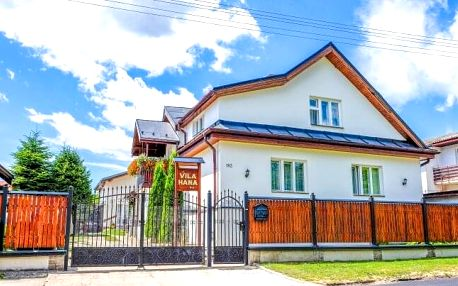 Vysoké Tatry ve Vile Hana s polopenzí a slevou do Aquacity Poprad a termálů Vrbov