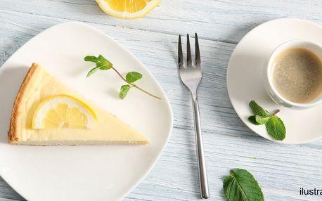 Káva a domácí koláč nebo lívance podle výběru