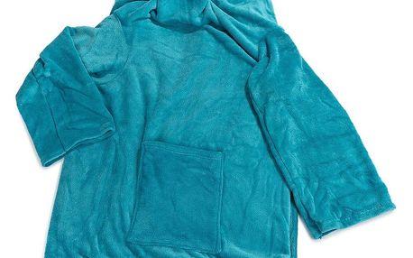 Modom Deka Comfort s rukávy a kapsou modrá, 180 x 135 cm