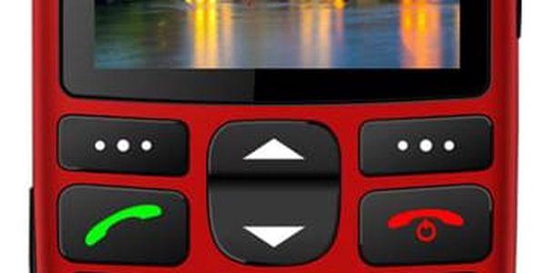 Mobilní telefon iGET SIMPLE D7 Single SIM červený (84000436)3
