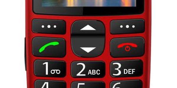 Mobilní telefon iGET SIMPLE D7 Single SIM červený (84000436)5