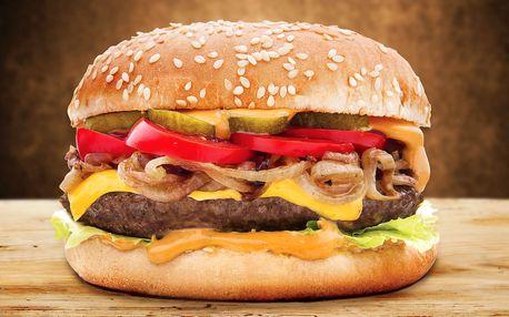 150g nebo 300g burger podle výběru a hranolky