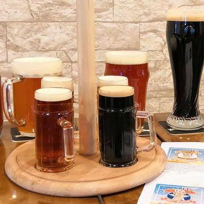 Degustace piv v novém ostravském minipivovaru