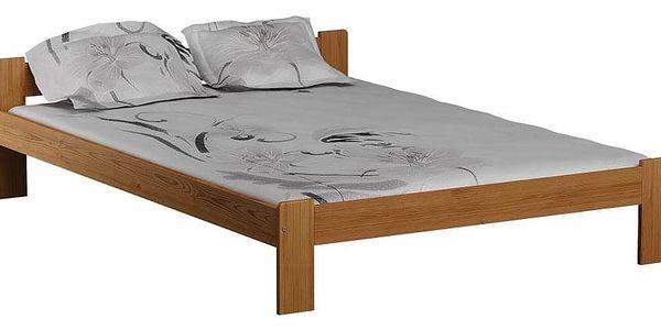 Dřevěná postel Celinka 160x200 + rošt ZDARMA borovice3